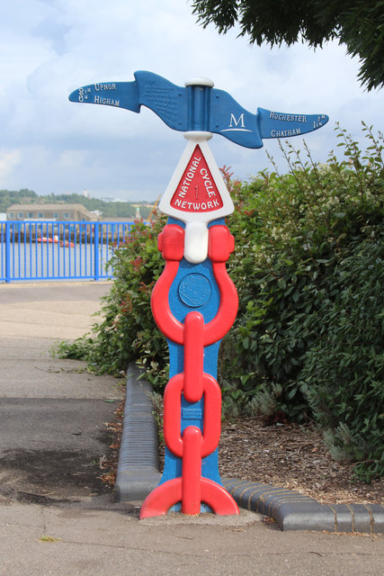 National Cycle Network Milepost, Canal Road
