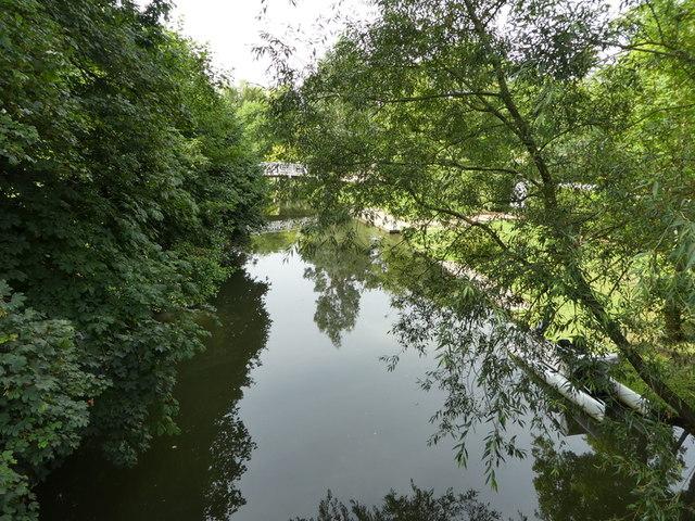 River Cherwell with Footbridge