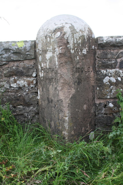 Parish boundary stone at Blackhause Bottom Bridge
