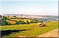 SJ2141 : View NE nearing Llangollen on road from Glyn Ceiriog, 1995 by Ben Brooksbank
