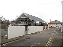 NT9953 : New offices under construction, Hatters Lane, Berwick-upon-Tweed by Graham Robson