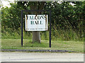 TM0474 : Falcons Hall sign by Adrian Cable