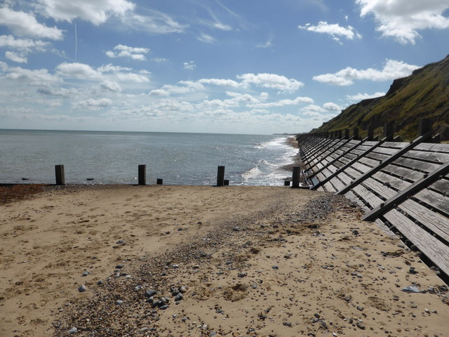Beach and revetments between Mundesley and Bacton