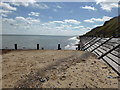 TG3235 : Beach and revetments between Mundesley and Bacton by ruth e