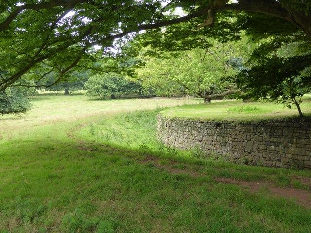 Ha-ha between garden and park, Tyntesfield