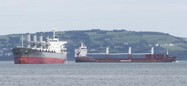 Two ships off Bangor