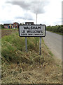 TM0071 : Walsham Le Willows Village Name sign by Adrian Cable