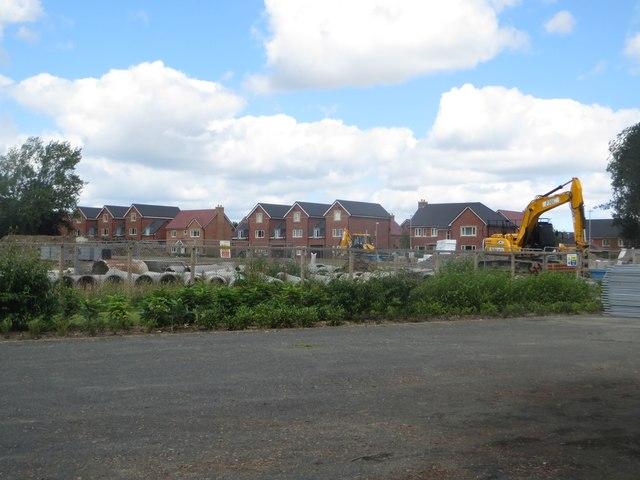 Construction site, St Mary's Park, Stannington