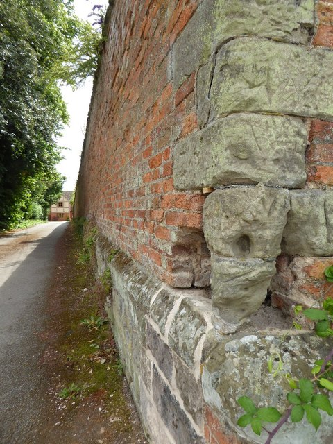 Wall, part of the grounds to Snitterfield House