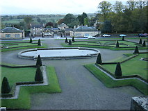 NZ0516 : Formal  garden  in  front  of  Bowes  Museum by Martin Dawes