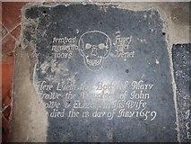 TM3898 : St Gregory, Heckingham: ledger slab (3) by Basher Eyre