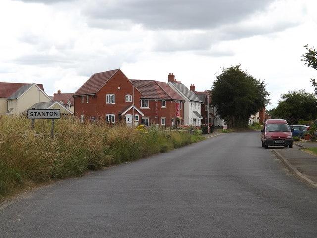 Entering Stanton on Hepworth Road