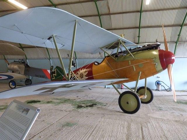 Replica WW1 biplane, Stow Maries Air Museum, Essex