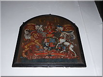 TM2692 : St. Margaret, Topcroft: coat of arms by Basher Eyre