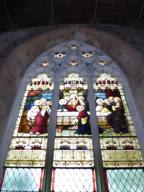 St. Margaret, Topcroft: stained glass window