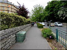 SZ0891 : Braidley Road pavement, Bournemouth by Jaggery