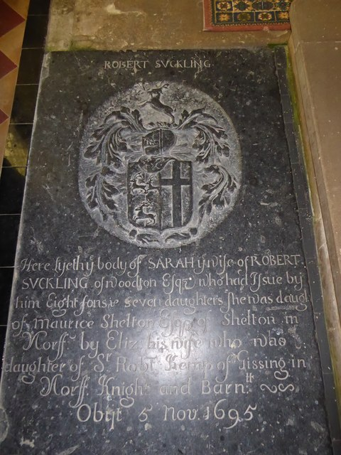 All Saints, Woodton: memorial (S)