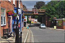 TM3863 : Railway viaduct crossing Saxmundham High Street (B1121) by Arjen Bax