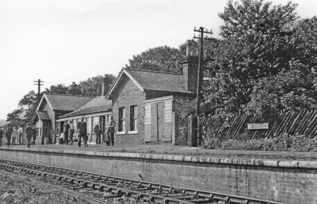 Waterhouses (closed) station,1958