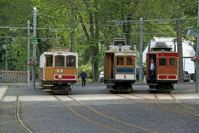 A trio of Milnes cars at Laxey