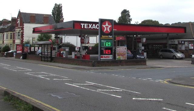 Texaco filling station on a Dinas Powys corner