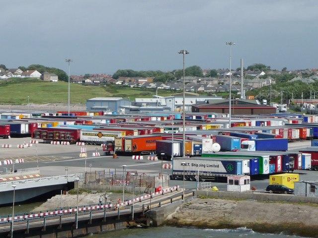 Lorry trailer park, Heysham Port