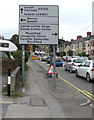 ST1571 : Bilingual directions sign, Cardiff Road, Dinas Powys by Jaggery