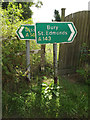 TM0175 : Roadsigns on the A143 Diss Road by Geographer