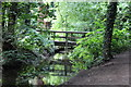 ST2885 : Footbridge, lake inlet, Tredegar House Park by M J Roscoe
