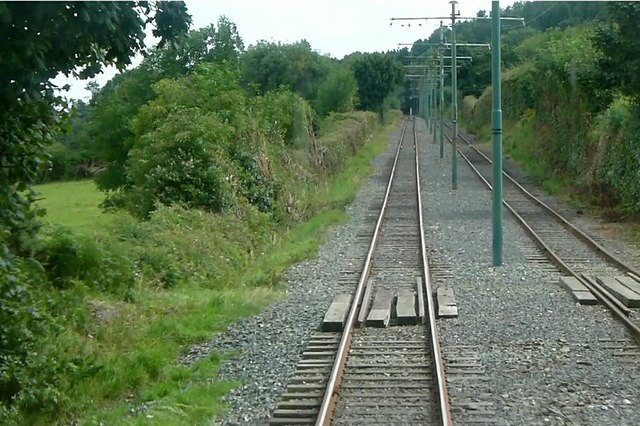 Manx Electric Railway above Lewaigue