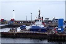 NJ9505 : MV Dunter in dry dock, Aberdeen by Mike Pennington