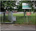 ST1571 : Bilingual school nameboard, Dinas Powys by Jaggery