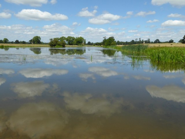 Clouds reflected in Croome River
