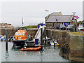 NW9954 : Portpatrick Lifeboat in Harbour by David Dixon