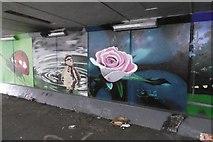 NZ3855 : Murals, Queen Alexandra Road by Richard Webb