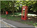 TL9674 : Telephone Box & Stanton Chare Postbox by Adrian Cable