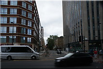 TQ2982 : View down Mabledon Place from Euston Road by Robert Lamb