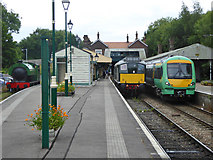 TQ5434 : Motive power at Eridge station by Robin Webster