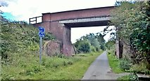 SE6141 : Bridge over York & Selby Path, National Cycle Route 65 by Chris Morgan