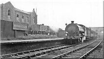NZ4163 : Whitburn Colliery station, with Last Day train from South Shields, 1953 by Walter Dendy, deceased