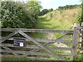 SX9092 : Entrance to Barley Farm Nature Reserve, Antonine Crescent, Exeter by David Smith