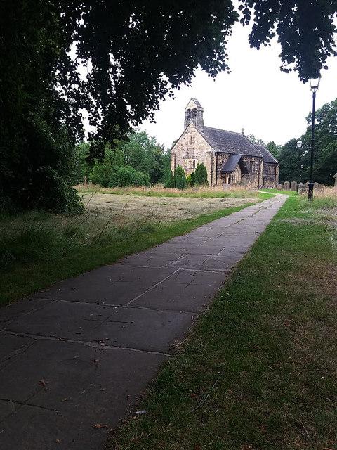 Path through Adel churchyard