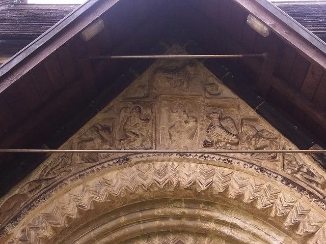St John the Baptist, Adel - frieze