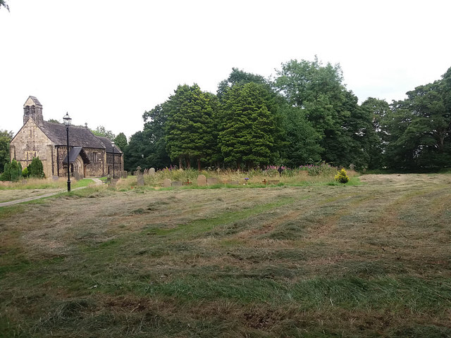 St John the Baptist, Adel - mown churchyard