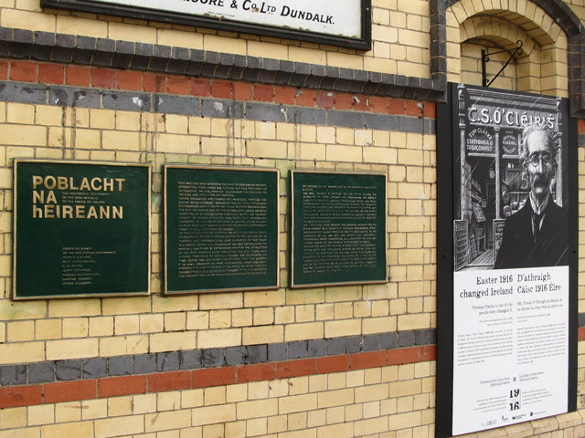 Memorials to the Easter Rising Patriot Tom Clarke at Clarke Station