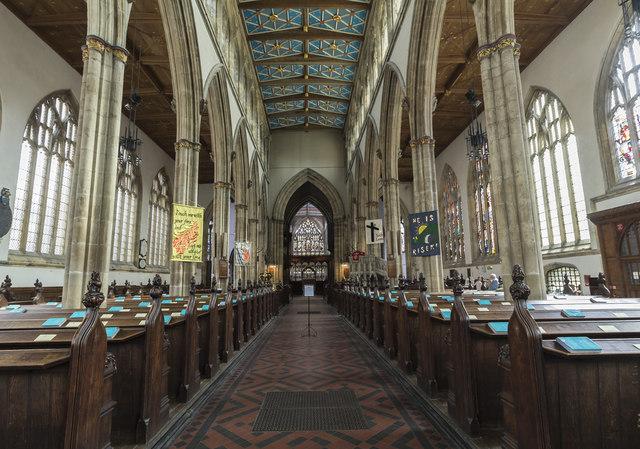 Interior, Holy Trinity church, Hull