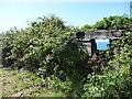 SC2887 : Trackside ruin, above Lhiannag by Christine Johnstone