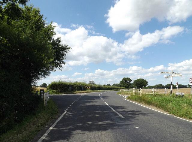 B1077 Mile Road, Banham