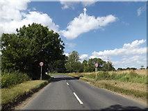 TM0889 : B1077 Haugh Road, New Buckenham by Adrian Cable
