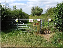 SK3527 : The entrance to Greeanacres Nature Reserve by Ian Calderwood